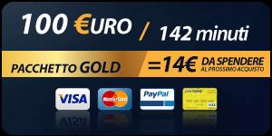 Pacchetto 100 Euro 142 minuti